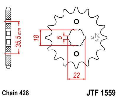 Priekinė žvaigždė JT (JTF 1559-14)