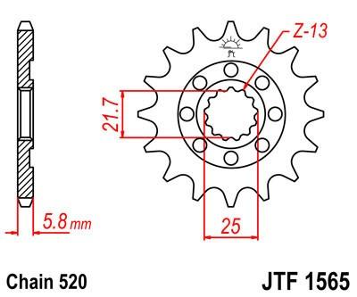 Priekinė žvaigždė JT (JTF 1565-12)