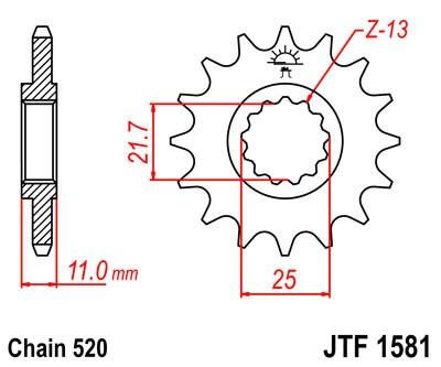 Priekinė žvaigždė JT (JTF 1581-13)