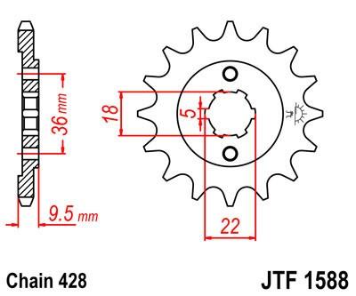 Priekinė žvaigždė JT (JTF 1588-20)
