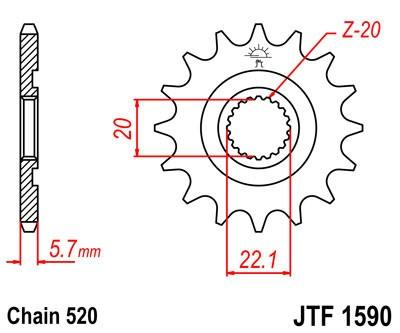 Priekinė žvaigždė JT (JTF 1590-12)