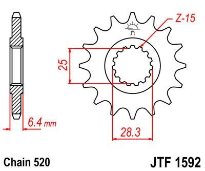 Priekinė žvaigždė JT (JTF 1592-14)