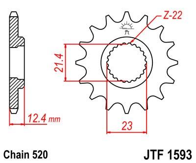 Priekinė žvaigždė JT (JTF 1593-14)