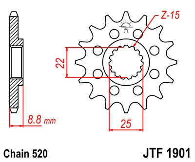 Priekinė žvaigždė JT (JTF 1901-15)