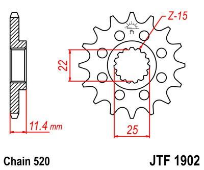 Priekinė žvaigždė JT (JTF 1902-17)
