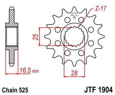 Priekinė žvaigždė JT (JTF 1904-16)