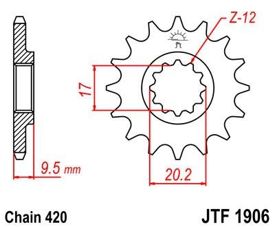 Priekinė žvaigždė JT (JTF 1906-12)