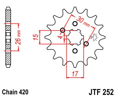 Priekinė žvaigždė JT (JTF 252-12)