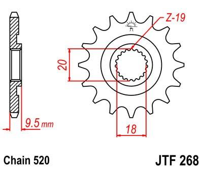 Priekinė žvaigždė JT (JTF 268-12)
