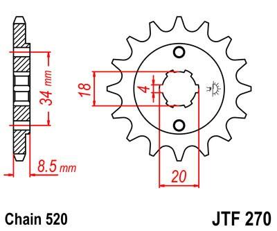 Priekinė žvaigždė JT (JTF 270-15)