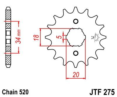 Priekinė žvaigždė JT (JTF 275-15)