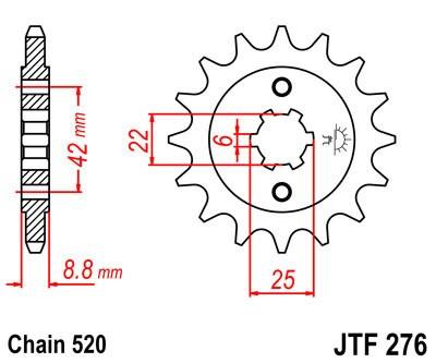 Priekinė žvaigždė JT (JTF 276-16)