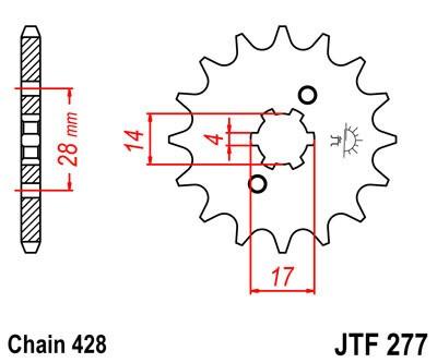 Priekinė žvaigždė JT (JTF 277-13)