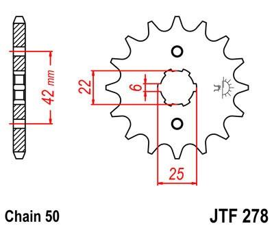 Priekinė žvaigždė JT (JTF 278-18)