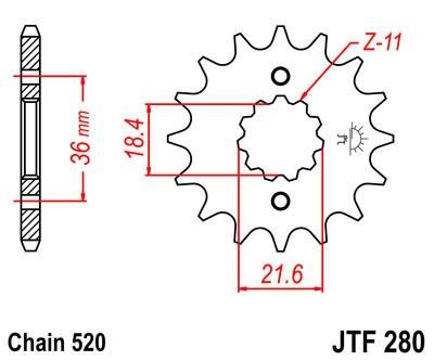 Priekinė žvaigždė JT (JTF 280-13)