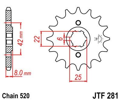 Priekinė žvaigždė JT (JTF 281-13)