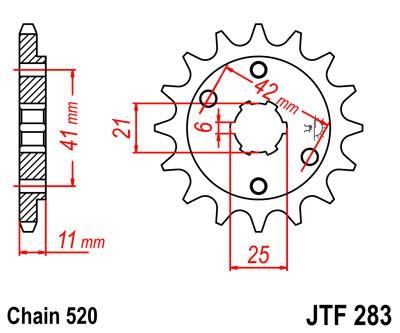 Priekinė žvaigždė JT (JTF 283-15)