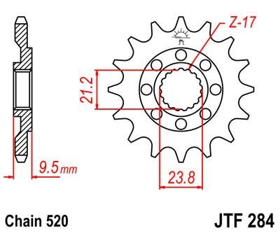 Priekinė žvaigždė JT (JTF 284-12)