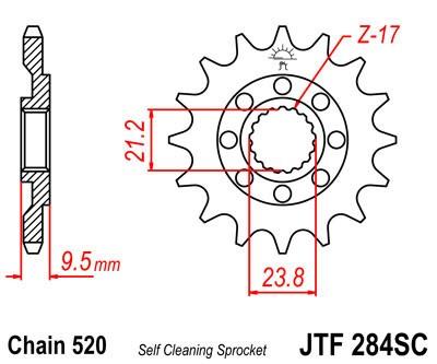 Priekinė žvaigždė JT (JTF 284-14 SC)