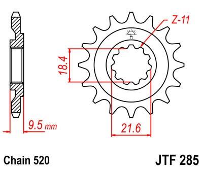 Priekinė žvaigždė JT (JTF 285-13)