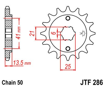 Priekinė žvaigždė JT (JTF 286-15)