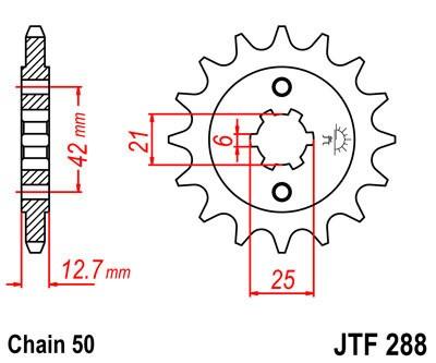 Priekinė žvaigždė JT (JTF 288-18)