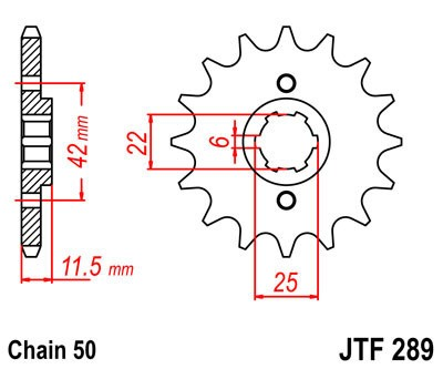 Priekinė žvaigždė JT (JTF 289-16)