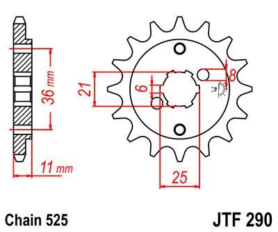 Priekinė žvaigždė JT (JTF 290-14)