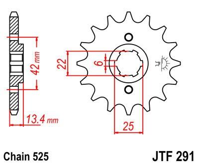 Priekinė žvaigždė JT (JTF 291-15)