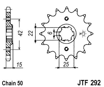 Priekinė žvaigždė JT (JTF 292-16)