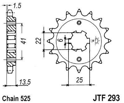 Priekinė žvaigždė JT (JTF 293-15)