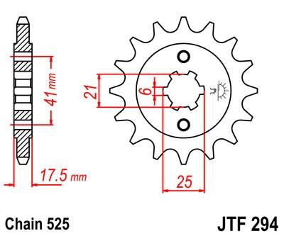 Priekinė žvaigždė JT (JTF 294-14)