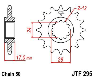 Priekinė žvaigždė JT (JTF 295-15)