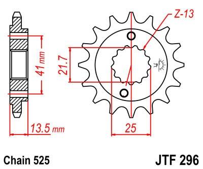 Priekinė žvaigždė JT (JTF 296-15)