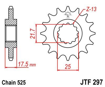 Priekinė žvaigždė JT (JTF 297-14)