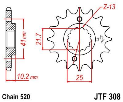 Priekinė žvaigždė JT (JTF 308-15)
