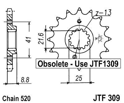 Priekinė žvaigždė JT (JTF 309-13)