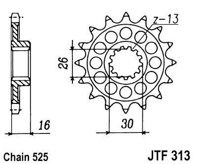 Priekinė žvaigždė JT (JTF 313-16)