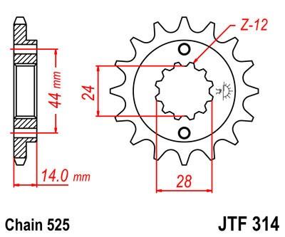 Priekinė žvaigždė JT (JTF 314-15)