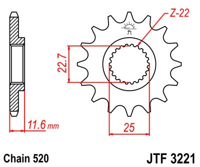 Priekinė žvaigždė JT (JTF 3221-10)