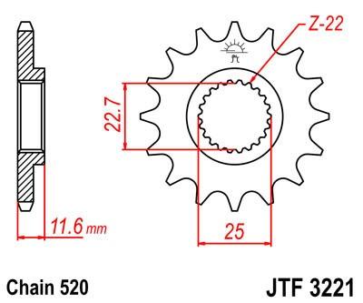 Priekinė žvaigždė JT (JTF 3221-11)
