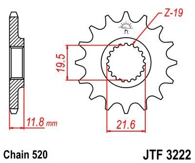 Priekinė žvaigždė JT (JTF 3222-12)