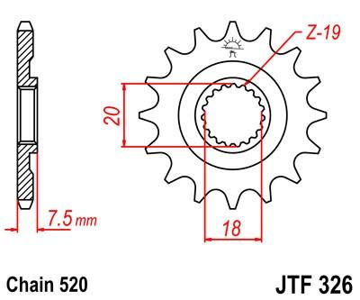 Priekinė žvaigždė JT (JTF 326-12)