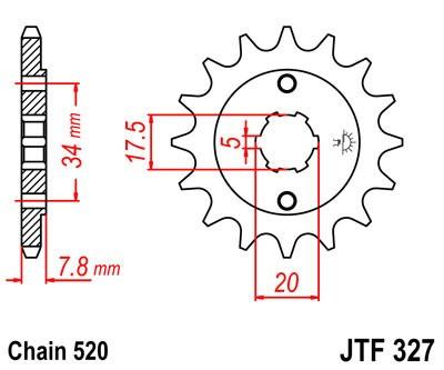 Priekinė žvaigždė JT (JTF 327-13)