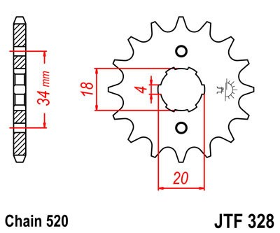 Priekinė žvaigždė JT (JTF 328-12)