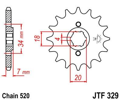 Priekinė žvaigždė JT (JTF 329-12)
