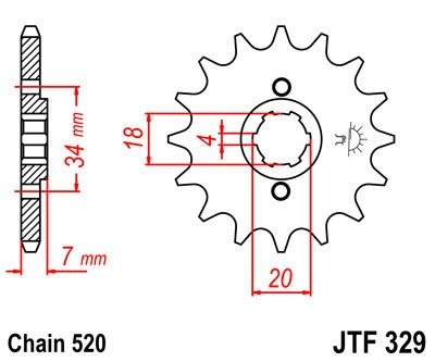 Priekinė žvaigždė JT (JTF 329-16)