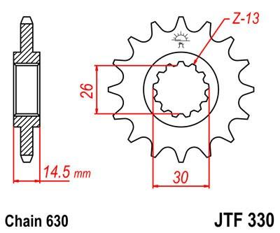 Priekinė žvaigždė JT (JTF 330-15)