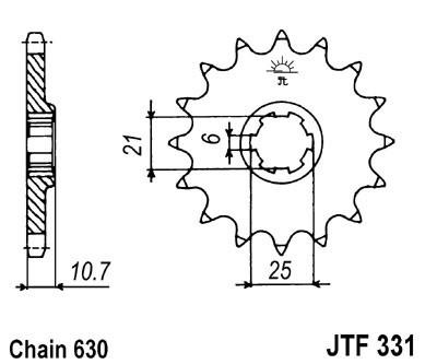 Priekinė žvaigždė JT (JTF 331-14)