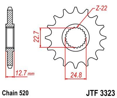 Priekinė žvaigždė JT (JTF 3323-22)